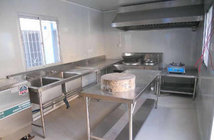 简易活动板房当厨房